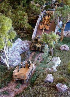 Pic 4 of Another amazing transformation from the Playset Addict! From a simple table to multi use diorama using commercially available 1/32 scale vehicles and figures and scenics.