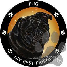 Pug Black My Best Friend Dog Breed Magnet http://doggystylegifts.com/products/pug-black-my-best-friend-dog-breed-magnet