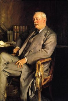 """""""The Earle of Comer"""" (1902), by Italian-born American artist - John Singer Sargent (1856-1925), Oil on canvas, 165.1 x 91.4 cm., National Portrait Gallery, London, UK."""