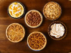 50 Pie Recipes : Recipes and Cooking : Food Network - FoodNetwork.com Kind of an interesting article, starts with a basic pie recipe and adds twists.