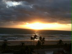 Sunrise in Fort Lauderdale. I was training the City of Hollywood - stormed most the time I was there :(