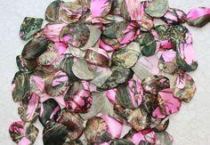 Satin Camo Wedding - Pink Camouflage Petals, $12.95 (http://stores.satincamowedding.com/pink-camouflage-petals/)