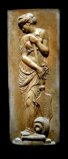 Ancient sculpture of a muse