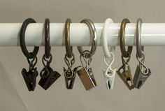 Curtain Rings With Clips, Curtain Clips, Shower Curtain Rods, Drapery Rods, Curtains With Rings, Plastic Curtains, Small Curtains, Gold Curtains, Diy Curtains