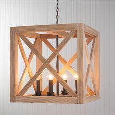 Wooden Cube Lantern - Shades of Light