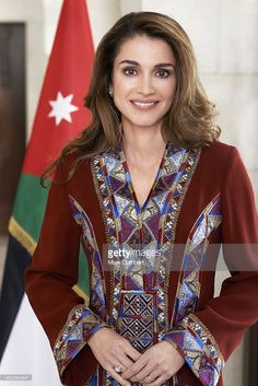 Queen Rania of Jordan pictured in this undated photograph supplied by The Royal Hashemite Court.  (Photo by Mark Cuthbert/UK Press via Getty Images)