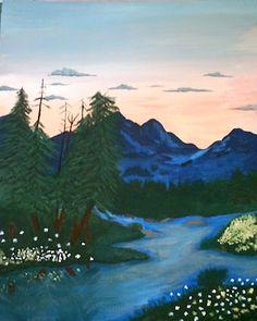 Mountain Rivers (Acrylics)