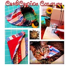 reversible pet bandana. Check out the how-to on www.sewsweettv.blogspot.com !