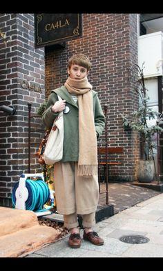 Looks like American winter mori. Mori Fashion, Japan Fashion, Fashion 2020, Fashion Men, Japanese Street Fashion, Look Cool, Aesthetic Clothes, Winter Fashion, Fashion Outfits