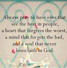 Keep having faith