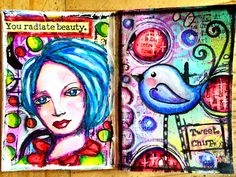 Mini art journal pages 3 x 4 inches