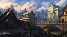 Main town by IIDanmrak on deviantART Fantasy city Concept art City art