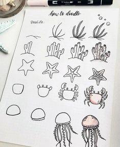 60 doodle tutorials for your Bullet Journal - reb . - 60 doodle tutorials for your Bullet Journal – reb … – - Bullet Journal Notebook, Bullet Journal Ideas Pages, Bullet Journal Inspiration, Bullet Journals, Doodle Art Journals, Drawing Journal, Bullet Journal Aesthetic, Doodle Inspiration, Easy Drawings