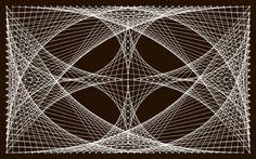 BRICOLAGE DECO - Un tableau avec des clous et du fil