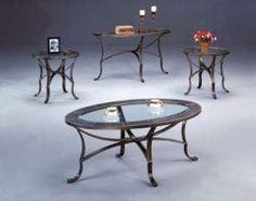 Miranda Glass Top Coffee U0026 End Table Set