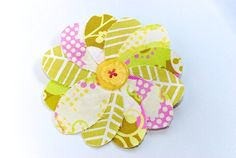 Another find at the craft fair - cute hair accessories for kids! I bought this barrette but in a different fabric and Keeley loves it!
