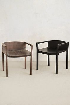 Handcarved Gallery Chair in black or gray via anthropologie -- $298.00 per -- hysterically gorgeous. dining chairs?