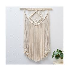 Large Macrame Wall Hanging / Modern Macrame / Wall by TeddyandWool