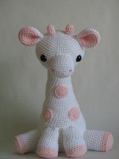 No Pattern. Crocheted Giraffe Doll.