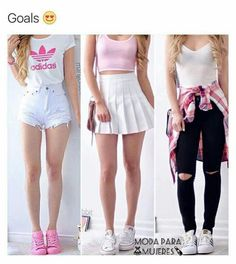 ❤ 1 you are cute 2 you are the best girl 3 you are the fashionable girl ! Cute Teen Outfits, Cute Comfy Outfits, Teenager Outfits, Cute Summer Outfits, Outfits For Teens, Chic Outfits, Trendy Outfits, Dress Outfits, Spring Outfits