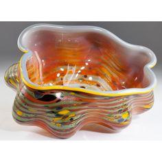 Custom Dale Chihuly Macchia Loop Basket: Leland Little Auctions