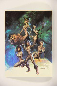 L010238 Boris Vallejo 1991 Card / Queen Of The Amazons 1986 - Card #41 / ARTWORK