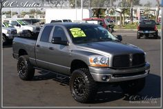 lifted silver grey dodge ram 2500 truck