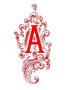 fancy letter a designs clipart best tattoo pinterest fancy