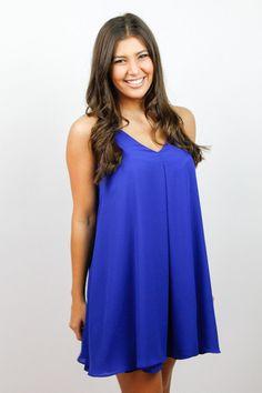 Crossover Royal Blue Dress