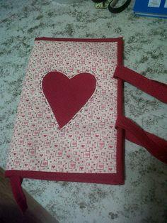 Retalho e Cor: Porta-livro romântico...