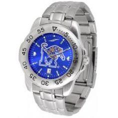 Memphis Tigers Sport Steel Watch - AnoChrome Dial