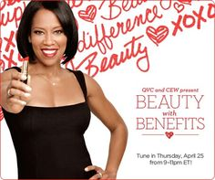 """""""Southland"""" actress Regina King has partnered with QVC and CEW for Beauty with Benefits, to help women thrive in the workplace by shopping on Thursday, April 25 from 9 to 11 p.m. ET."""