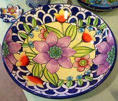 Damariscotta Pottery large bowl painted by Amy