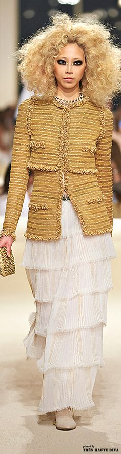 men have fantasy football. I have a fantasy wardrobe and it includes this gorgeous golden Chanel jacket from Cruise 2015 Dubai.