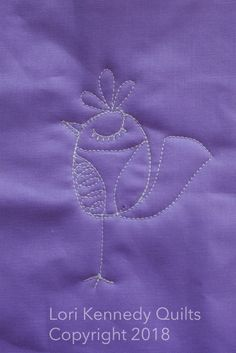 How to Quilt a Silly Bird Tutorial