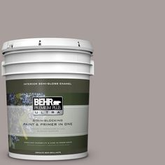 BEHR Premium Plus Ultra 5 gal. #T16-18 Mauve Melody Semi-Gloss Enamel Interior Paint