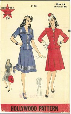 1940s Hollywood Patterns #1158