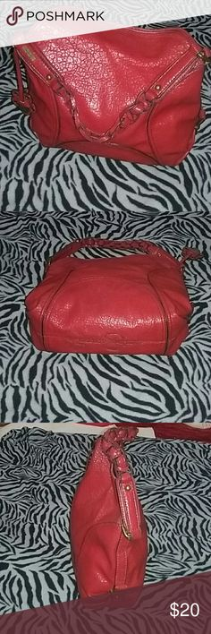 JESSICA SIMPSON SHOULDERBAG Hot red. Stylish and cute. Clean and undamage. Gently used Jessica Simpson Bags Shoulder Bags
