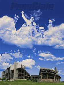 God must be a Penn State fan, why else would he make the sky blue and white?