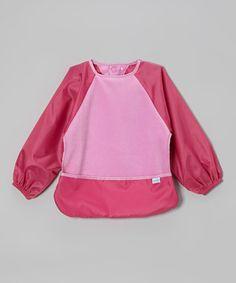 Pink Fleece Sleeved Bib