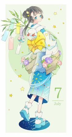 Cute Kawaii Drawings, Kawaii Art, Kawaii Anime, Anime Girl Cute, Anime Art Girl, Cute Characters, Anime Characters, Anime Chibi, Manga Anime