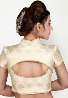 Cream saree blouse