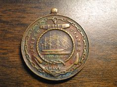 """Old US Navy Good Conduct Medal - No Ribbon - Features The US Constitution - 1 1/4"""" Diameter - Nice Find! by EagleDen on Etsy"""