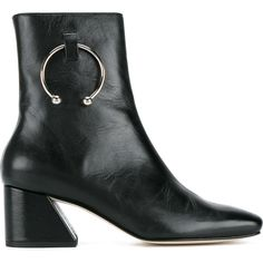 Dorateymur Nizip Patent Ankle Boots ($610) ❤ liked on Polyvore featuring shoes, boots, ankle booties, black, black patent boots, patent leather ankle boots, short black boots, black patent leather booties and black patent booties