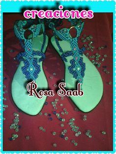 Resultado de imagen para imagenes de sandalias tejidas en macrame