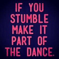 and acknowledge that the dance is different for ALL of us!!!!