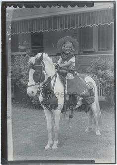 Vintage Photo cowgirl snapshot old photo paper by photopicker, $12.00