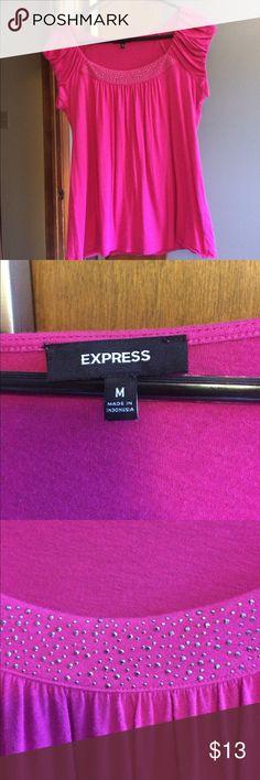 Cute express shirt! Pink express top Express Tops Blouses