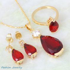 High quality suppliers Ruby jewelry for women red Cubic Zirconia ...