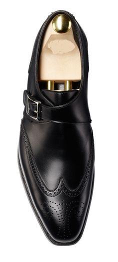 2efc335e703 Men fashion wingtip brogue dress leather Monk shoes